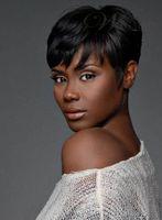 Парики 100% париков женщин короткого цвета черноты способа человеческих волос новые полные