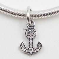 Стерлингового серебра 925 символ стабильности мотаться очарование шарик с ясно Cz подходит Европейский Пандора стиль ювелирные изделия браслеты ожерелья подвески