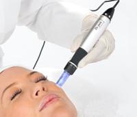 DHL rápido Shiping 6 velocidade Derma Pen Electic Auto Micro Needle Terapia Dr.pen vibrando Derma caneta Dermastamp com gratuito Needle Cartuchos