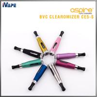 Aspire CE5-S BVC Clearomizer 100% Original Aspire CE5S BVC BDC E Elektronische Zigarette eGo Zerstäuber 1,8 ml CE5S Vaporizer mit BVC BDC Spulen
