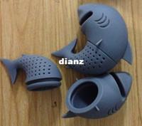 Nuovo arrivo forma di squalo Tè infusore Filtri in silicone Filtro per tè Filtro bustine di tè vuote Diffusori foglia Accessori