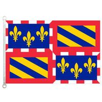 Хороший флаг Bourgogne флаги баннер 3X5FT-90x150cm 100% полиэстер флаги стран, 110gsm основы трикотажные ткани открытый флаг