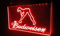 LS028-r Budweiser Exotic Dancer Stripper Bar Light Signs