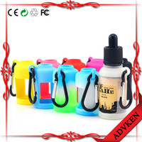 Botellas líquidas E Carrying Case Funda de silicona para 30ml E Botellas de jugo E Display Colorful Colour Silicone Bottles Cover