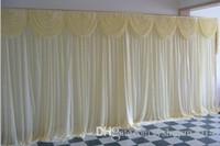 جديد وصول الحرير الأبيض الزفاف خلفية 3 متر * 6 متر (10ft * 20ft) زينة الزفاف مع الترتر النسيج فيديكس شحن مجاني