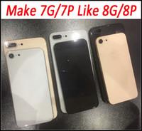 7G 7Plus 8G 8 Artı Için değiştirin Cam Pil Kapı Geri Konut Değiştirme iPhone 7 7 Artı Siyah Beyaz Altın