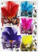 Frauen-sexy Hallowmas venetianische Masken-Maskerade-Masken mit der Blumen-Feder-Masken-Tanz-Partei-Maske 20pcs, die freeshipping sind