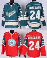 Outlet usine, # 24 Derek Boogaard Ice Hockey Jerseys Minnesota Sauvage Broderie Sauvage Broderie cousue Hockey sur glace Premier Jerseys Livraison rapide