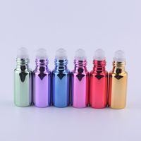 5ml Rolle auf Flaschen für ätherische Öle Roll-on nachfüllbare Parfümflasche buntes Glas Parfüm ätherisches Öl Flasche
