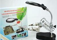 HD mit LED-Leuchten 10-mal-Lupe-Eisen 36pcs A-Beutel, Schweißen Multifunktions-Desktop-Wartungsverletzung, elektrischer Eisenständer