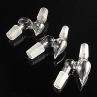 Adaptateur en verre adaptateur en verre de haute qualité Convertisseur de points mâle à mâle en trois dimensions pour conduites d'eau