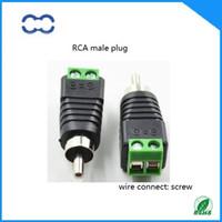 Yüksek Performans ve ROHS 100% Marka Yeni 20 adet AV RCA Erkek Konnektör Tak Ses Kablosu için