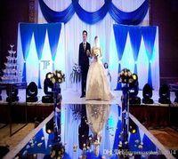 25 메터 많은 1 메터 넓은 실버 플라스틱 거울 카펫 러너 통로 패션 웨딩 중심 장식 용품 DHL 배달