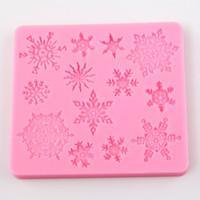 Forma di decorazione della torta di cottura del silicone della muffa del biscotto della muffa del silicone di forma di Natale 3D Snowflake TY1747