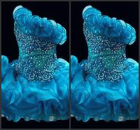 Glitz Aning Cupcake Ogenza Girls Pageant платья Sparkle без бретелек бисером короткие официальные девочки вечеринка выпускные платья ручной работы цветок новейшие