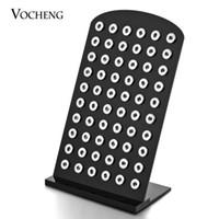VOCHENG NOOSA Noir Transparent Acrylique Snap Stands Affichage Ensemble détachable 5.3 pouces * 8.7 pouces pour 12mm bouton-pression Vn-458