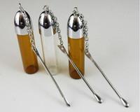Envío gratis ----- Pequeña botella de tabaco viene con una mini cuchara
