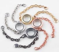 10 Teile / los Mix Farben Glatte Plain Runde Glas 25 MM Schwimmdock Medaillon Armband Armreif Für Frauen Mode Jewelrys