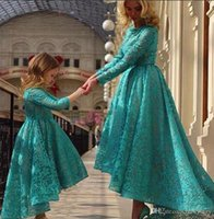 2015 Little Girls Pageant Dresses Sweet Lace Appliqued Hi- lo...