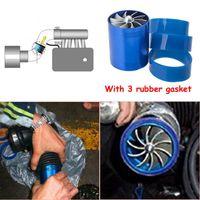 RASTP - Modification voiture turbine à gaz Fuel Saver Ventilateur Turbo Supercharger Fit Turbine pour admission d'air Diamètre du tuyau 65-74mm RS-TUR007