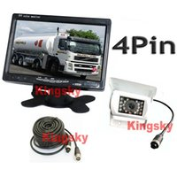 "7"" LCD Monitor Car Rear View Kit + White 12V- 24V 4Pin C..."