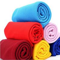 Freddo di raffreddamento asciugamano prestazioni estive asciugamani raffreddamento sport outdoor freddo ghiaccio sciarpe sciarpa Pad cravatta al collo braccialetto fascia di spiaggia forniture
