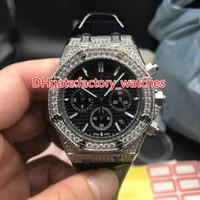 Cronografo completo al quarzo con cinturino completo orologio da uomo, orologio da polso di lusso, cinturino in pelle, cinturino in argento