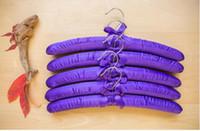 الحرير والساتان الخشب الصلب بالجملة مبطن شماعات الملابس معطف هوك الكبار سهلة عدم الانزلاق الشماعات الكبيرة الضروريات اليومية