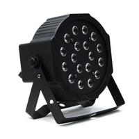 EDISON2011 18 W LED Sahne Işık Yüksek Güçlü RGB Par Işık DMX Master Slave LED Düz DJ Ekipmanları Denetleyicisi