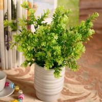 아름 다운 인공 녹색 밀라노 플라스틱 식물 잎 Diy 공예 장식 꽃다발 홈 장식 가짜 꽃에 대 한 7 분기 무료 배송