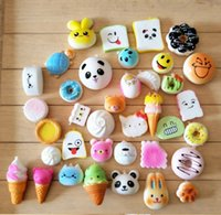 30pcs Random Mix PU Cute Lovely Cartoon Pendant Kawaii Squis...