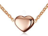 Fantezi En Kaliteli Anazing Sevgililer IP Gül Altın Kalp tasarım Kolye Kolye paslanmaz çelik Kadın moda Takı Hediye Ücretsiz Zinciri Ile