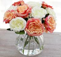 Simcer gül ipek yapay çiçekler ev dekorasyonu ve parti düğün dekoratif ücretsiz kargo sıcak satmak öğe