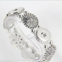 Moda Ginger Snap Botton Gioielli fai da te d'argento di fascino misura il braccialetto Noosa Chunk pulsante a scatto in lega per le donne calde di vendita