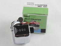 60 шт./лот быстрая доставка высокое качество металла хром ручной подсчет счетчик 4-значный номер кликер Гольф счетчики