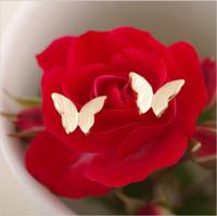 Boucles d'oreilles en forme de papillon belle en gros livraison gratuite Boucles d'oreilles de femme en or 18 carats plaqué boucles d'oreilles de style animal classique