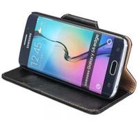 Excelência para samsung s6 edge case virar bolsa marca genuíno carteira de luxo original capa de couro de silicone para samsung galaxy s6 edge g9250