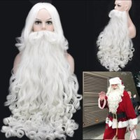 Z&F Father Christmas Wigs White Long Beard Decorations Santa...