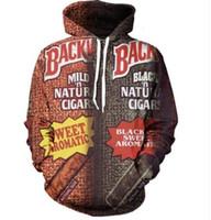 2017 Autunno inverno nuovo Fashion 3D Hoodies Backwoods stampa Felpa con cappuccio casual divertente Felpa Drop shipping XK085
