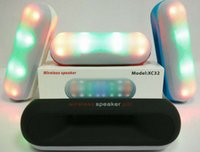 LED speaker XC32 Wireless Speakers Pill pulse LED light blue...