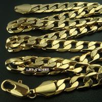 Collier pour homme en or massif 18 carats avec chaîne de 60 cm de longueur N268