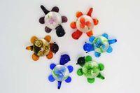 無料の卸売フラワー3D動物亀のムラノガラスのガラスビーズペンダントフィットネックレス少女の女性のジュエリーPDT2