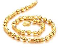 Schneller kostenloser Versand Feine Hochzeit Schmuck Großhandel - 24 k Gold gefüllt Halskette Kettenlänge: 55 cm, Breite: 5 mm, Gewicht: 45 g