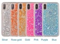 Gold foil glitter phone case soft tpu shockproof luxury blin...