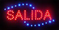 Испанские слова индивидуальные светодиодные САЛИДА знаки выделяющийся лозунги неоновые огни красное слово полу открытый размер 48 см*25 см Бесплатная доставка