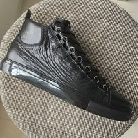 New 2018 men women black leather Lace Up high top sneakers, d...