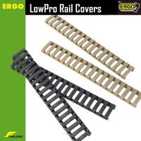 """Тактический 7 """" Пикатинни лестница железнодорожных четырехъядерных железнодорожных резиновые чехлы (пакет из 4) Черный / загар"""