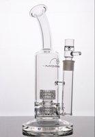 Tubulação de água de vidro imagem Real Dois pneus Função oil rig equipamento de petróleo em linha reta bong r tubo de vidro Melhor qualidade de vidro shisha
