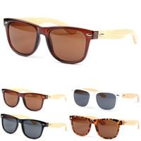 Wholesale-Men Women Glass Bamboo Sunglasses Retro Vintage Wood Lens Wooden Frame Handmade