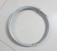 """1/4 """"6.35mm OD Línea de freno de acero Bobina Tubo de freno plateado Zinc 25FT 7.62M Bobina, 1 pieza"""
